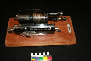 An original and working Brunsviga mechanical calculator.
